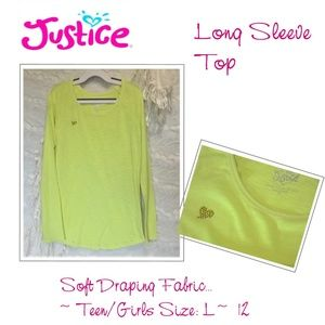 Justice Long Sleeve Top Girls 12